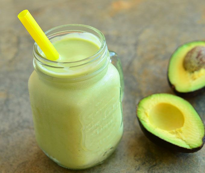 4 avocados 1 (14 ounces) evaporated milk 1/2 cup sugar 1 teaspoon lemon juice 3 cups ice cubes