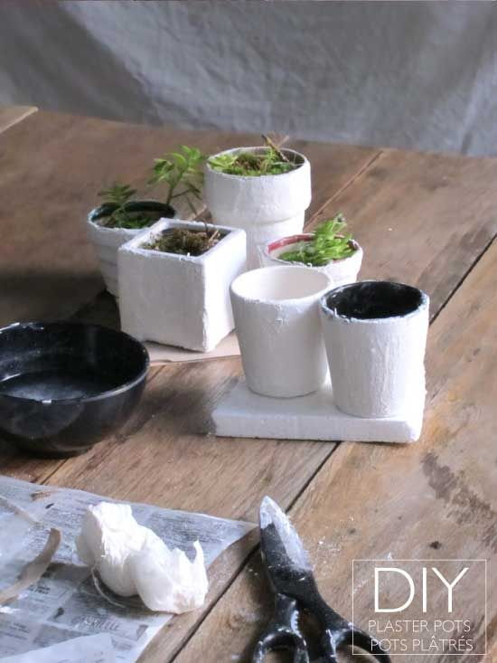 diy plaster flower pot craft ideas pinterest
