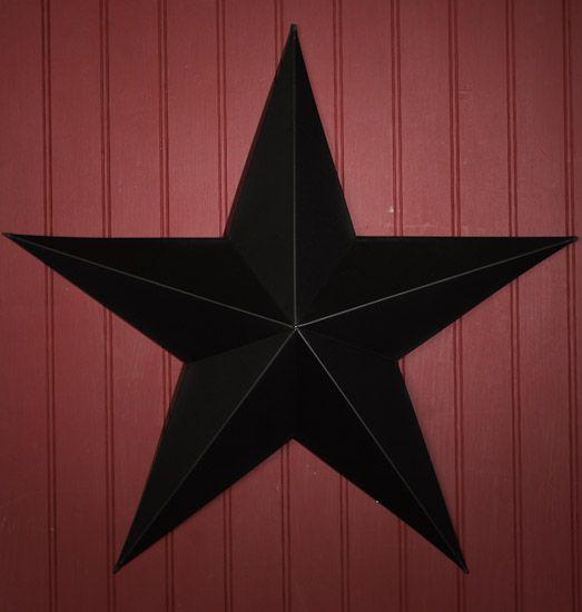 "Barn Star Decor | 15"" Primitive Black Tin Metal Barn Star - Barn Stars - Primitive Decor"