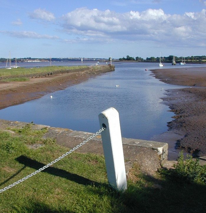 Exit channel from Exeter Ship Canal to Exe Estuary.