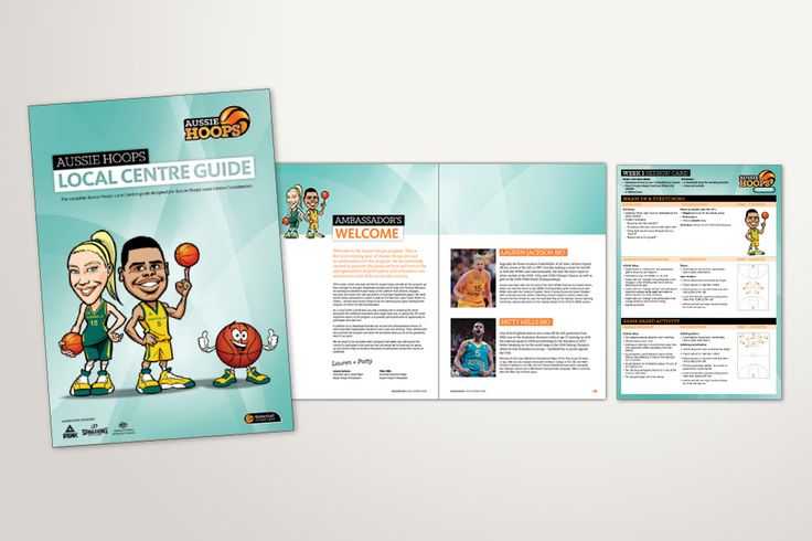 Basketball Australia / Aussie Hoops Local Centre Guide design - Alexsia Heller