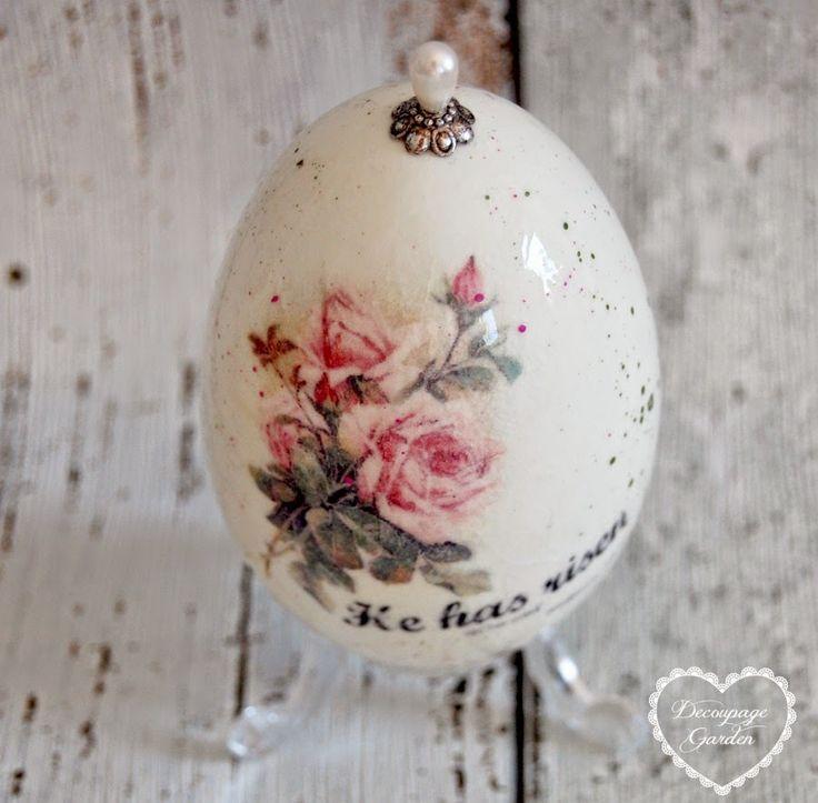 "Decoupage Garden Blog: Veľká noc ""bol vzkriesený"""