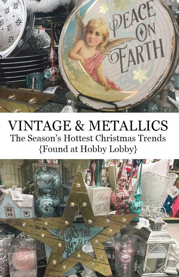 Christmas décor and trends found at Hobby Lobby #hobbylobbyfinds