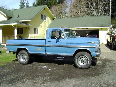 Ford : F-250 1970 F250 Ford Ranger 4X4 Pickup 4 Speed