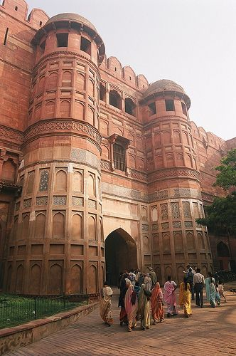 The entrance gate to Agra Fort, Agra, India                                                                                                                                                                                 More