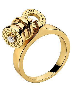 solitario bzero 1 de bulgari en oro amarillo y diamantes