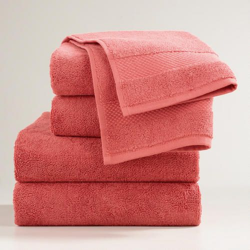 One of my favorite discoveries at WorldMarket.com: Coral Cotton Bath Towel Collection