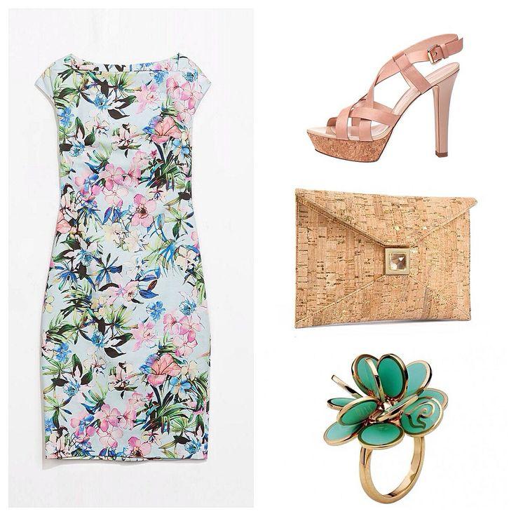 #LookIdeaForHer #Zara #Flowerdress #CarloPazolini #Sandals #KaraRossNY#Clutch #Chantecler #Ring #PhilPersonalShopper at https://www.facebook.com/PersonalShopperFilippoBoschero