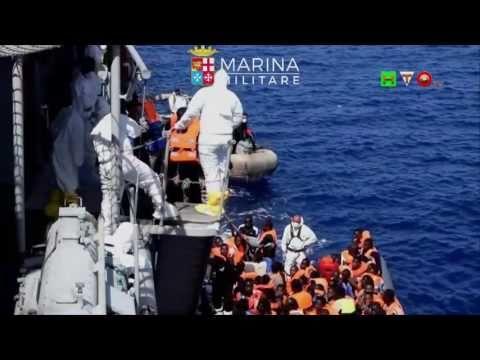 MARINA MILITARE - SAR 1 Luglio Nave Grecale Soccorsi ai Migranti - www.H...