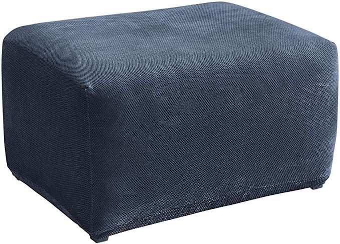 Surefit Stretch Pique Oversized Ottoman Slipcover Navy Review Ottoman Slipcover Oversized Ottoman Slipcovers