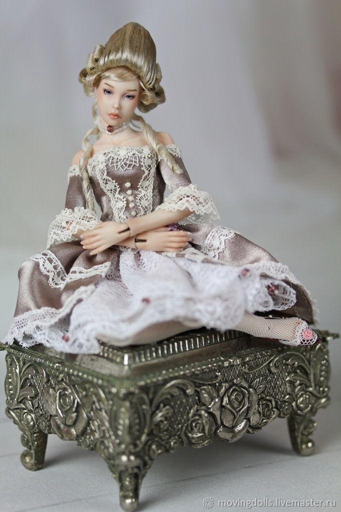 Buy Jointed porcelain doll Olivia-6. Porcelain ,15,5 cm Miniature 1/12 on Livemaster online shop