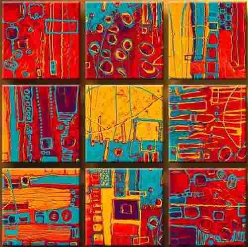 cuadros abstractos florales - arma tu serie ¡ nuevos !