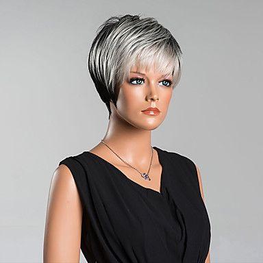 nuovo+arrivo+intelligenti+brevi+parrucche+diritte+senza+cappuccio+di+alta+qualità+colore+misto+dei+capelli+umani+–+EUR+€+28.05