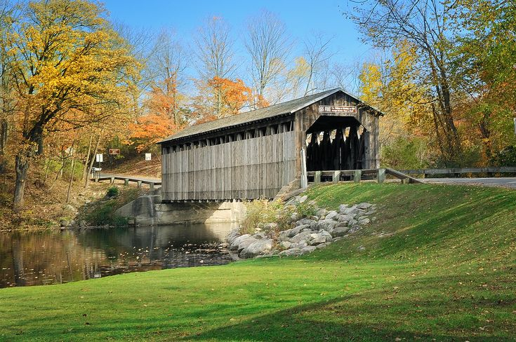 One of my favorite places ever! Fallasburg Covered Bridge, Lowell Michigan by Michigan Nut on flickr