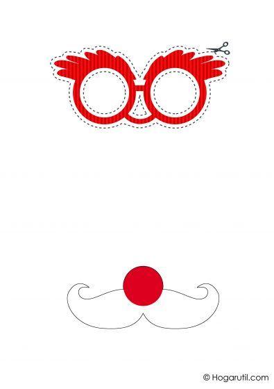 Kit descargable para hacer un photocall de Navidad - Gafas y bigote