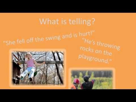 Tattling vs Telling  video with examples of both (this would be great to go along with Kelso's big vs. small lesson!) @Amy Brower Sixkiller