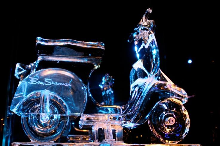 Ice Sculpture - Ben Sherman moped bike by PSD Ice Art