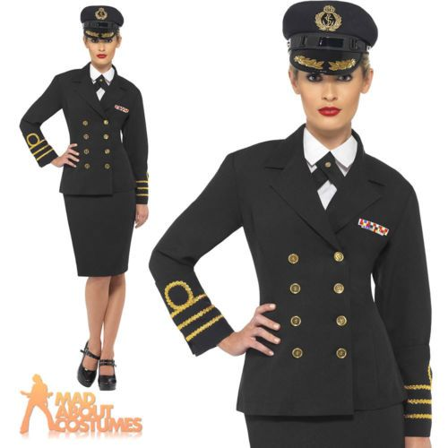Ww2 navy #officers costume 40s #sailor fancy dress ladies womens #outfit uk 8-22,  View more on the LINK: http://www.zeppy.io/product/gb/2/161362512103/