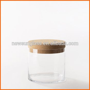 Wholesale glass jars cork lid for candle jars