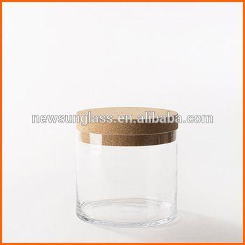 Wholesale glass jars cork lid for candle jars