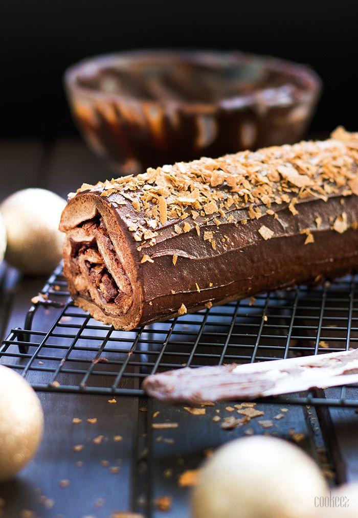 Cookeez | Bûche choco-praliné croustillant