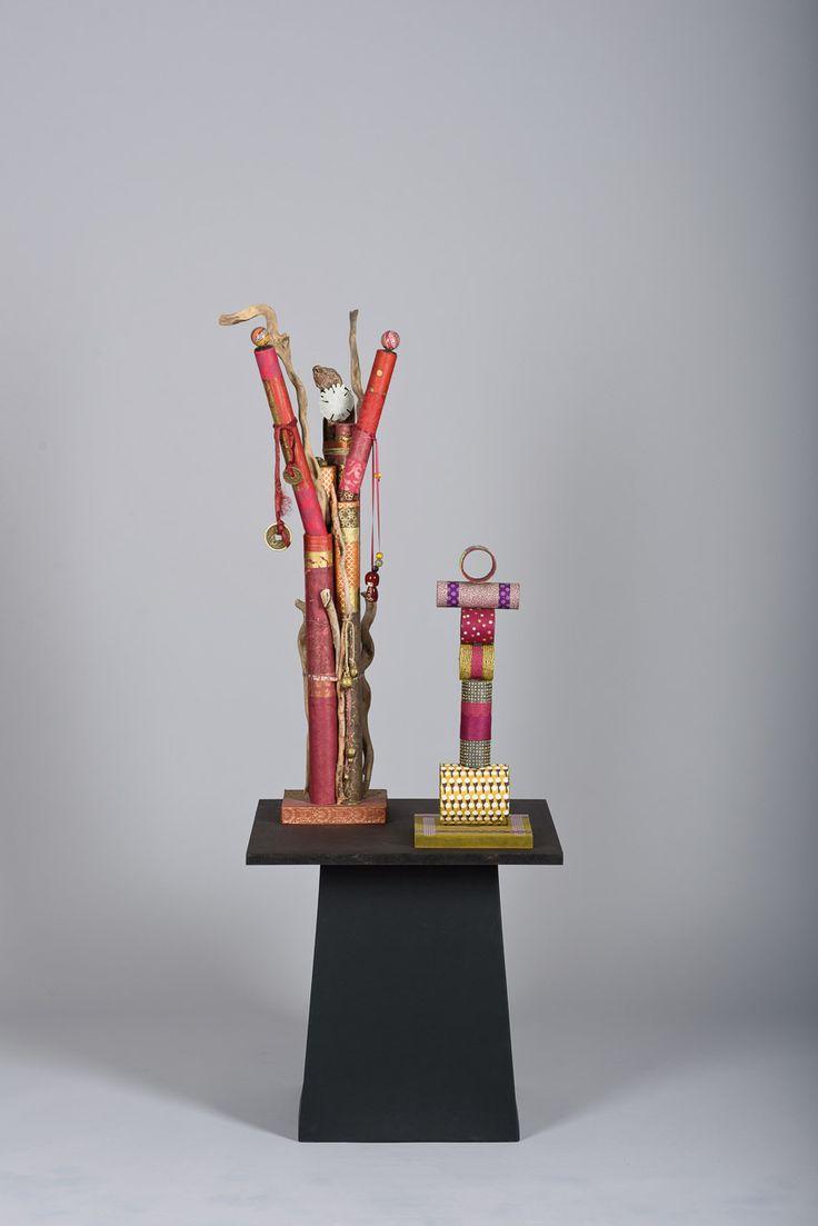 Sculptures bois, papier, carton...  Créations Geneviève BOZEC