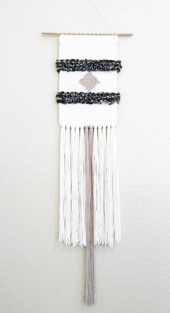 Colgante tejido tapices de pared arte de la por MWTextileDesigns