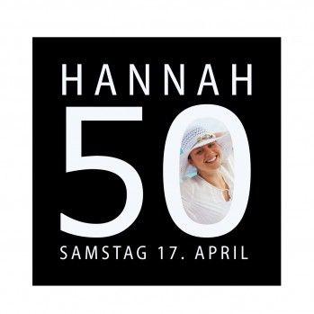 Einladungen 50. Geburtstag - mit Foto