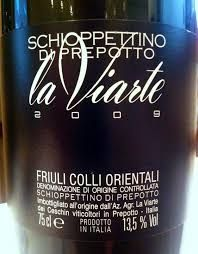 Viarte Schioppettino de Prepotto - if you're trying to find it just ask for Viarte and look for the grape that starts with S.  It's like Pinot with several generous helpings of ground pepper.