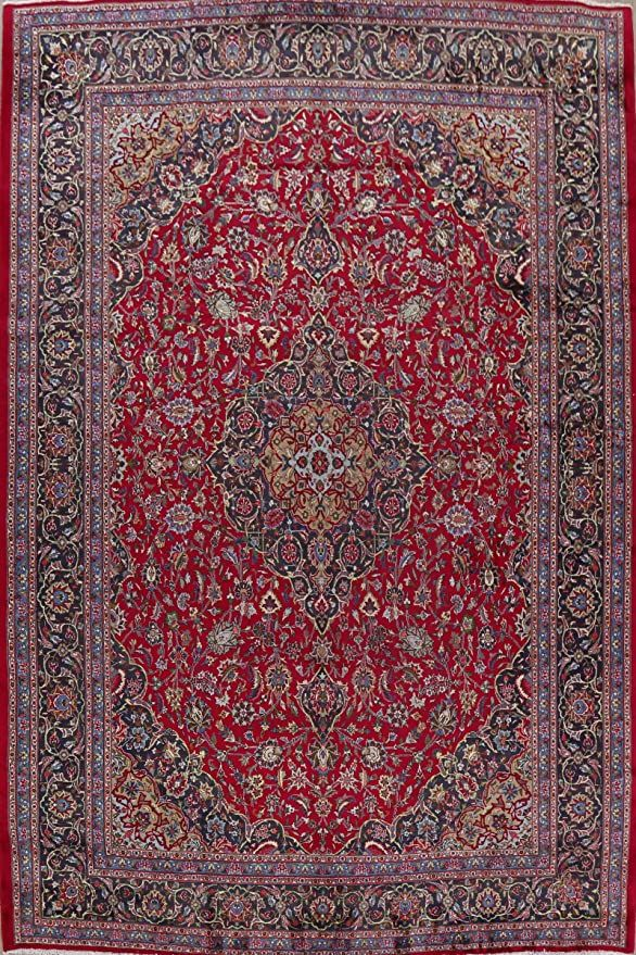 Vintage Kashmar Persian Floral Area Rug Handmade Red Wool Oriental Living Room Carpet 10x13 9 11 X 13 5 In 2020 Handmade Area Rugs Living Room Carpet Room Carpet