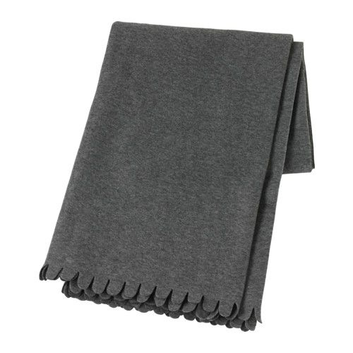 "$3.99 POLARVIDE Throw IKEA The fleece throw feels soft against your skin and can be machine washed. Product dimensions Length: 67 "" Width: 51 ""   Length: 170 cm Width: 130 cm"