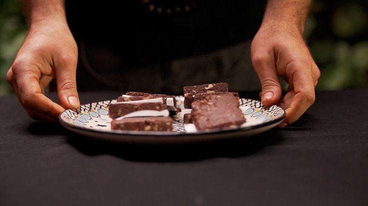 Brownie Raw por Máximo Cabrera. Una receta rica y que hace bien.