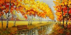 Blissful Fall - oil painting