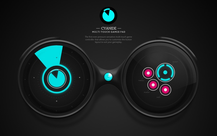concept - multi-touch game controller