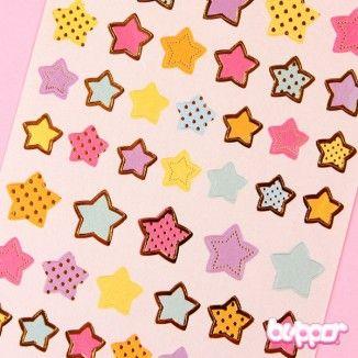 Kultatarrat - Kultaiset tähdet - Kawaii tarrat - Paperitavara | Blippo Kawaii Shop