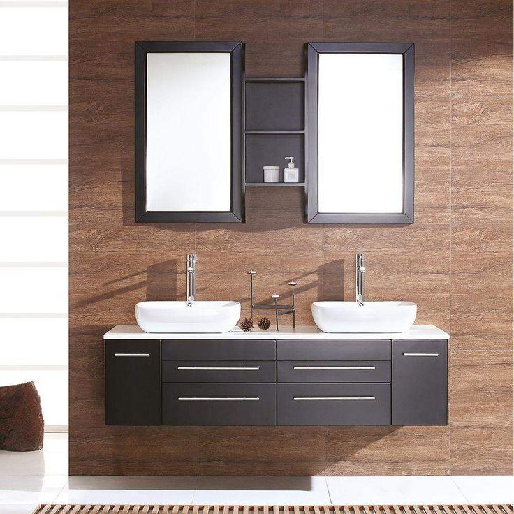 Fresca Bellezza 59 inch Modern Double Vessel Sink Vanity FVN6119