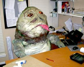 Homemade Jabba the Hutt Star Wars Costume: I made this Homemade Jabba the Hutt Costume based on my son's challenge and as a creative outlet...