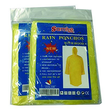 Disposable Rain Poncho One Size Fit All with Hood 10 Per Pack (purple): Amazon.co.uk: Sports & Outdoors
