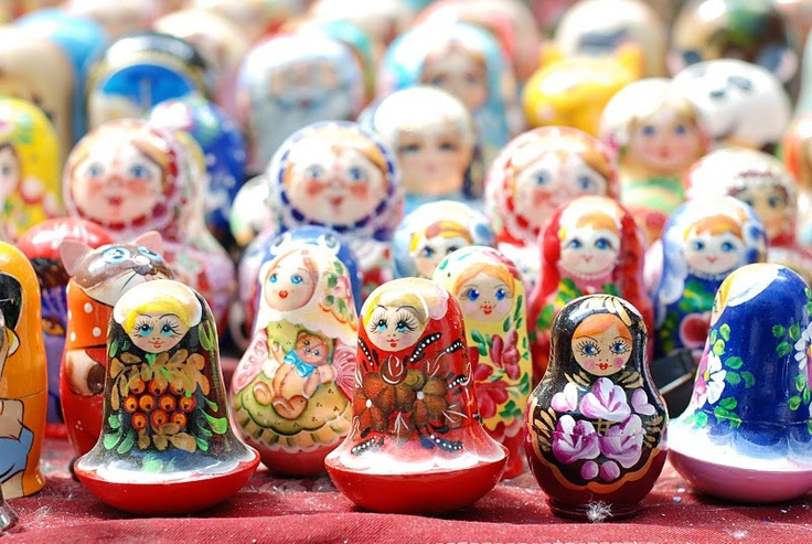 Nesting dolls, or matryoshka. Every one done by hand.