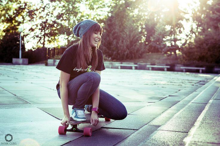 Longboarding Girl from Slovakia, Eva Domaracka.