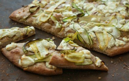 Summer Squash and Goat Cheese Pizza