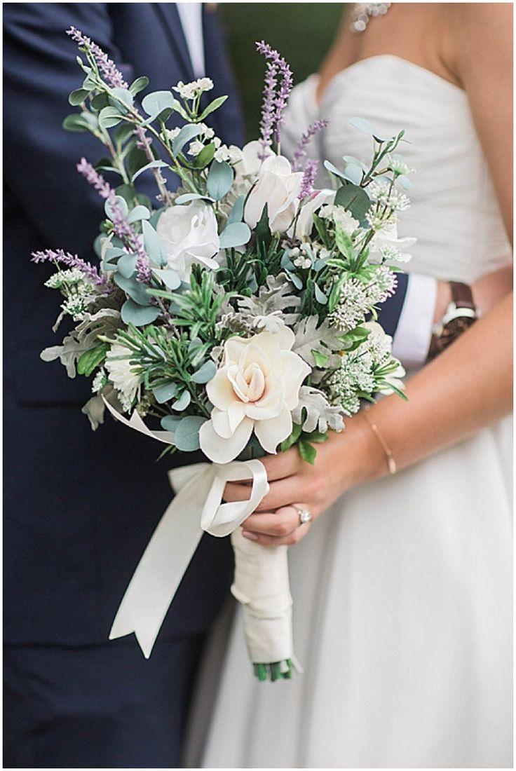Lavender Wedding With Elegant Diy Details In 2020 Wildflower Wedding Bouquet Wedding Flower Arrangements Lavender Wedding