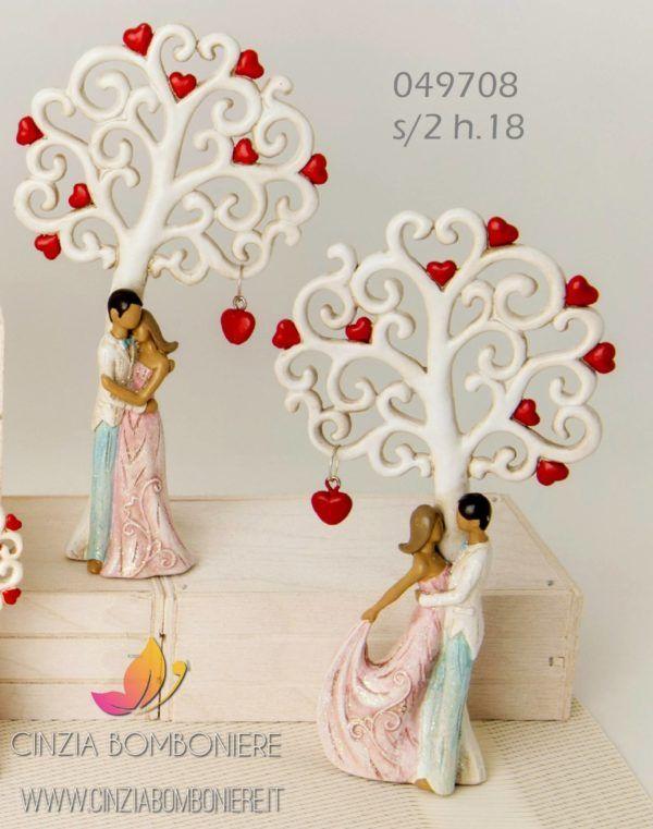Bomboniere Simpatiche Matrimonio.Sposi Cuore Albero Danzanti Cb049708 Spose Bomboniere E Bomboniera