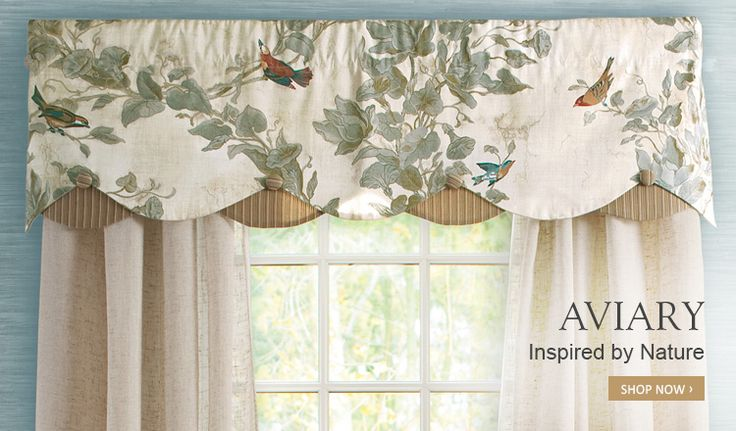 Aviary Layered Scalloped Valance Country Curtains 79 00