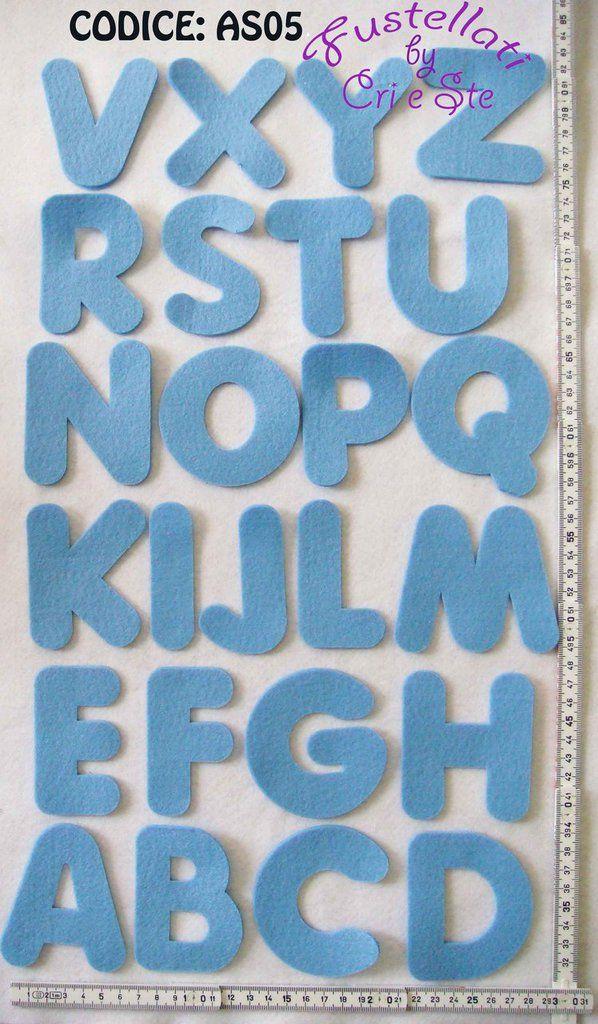 Alfabeto Grande Fustellato in Feltro AS05, by Fustellati, 0,50 € su misshobby.com