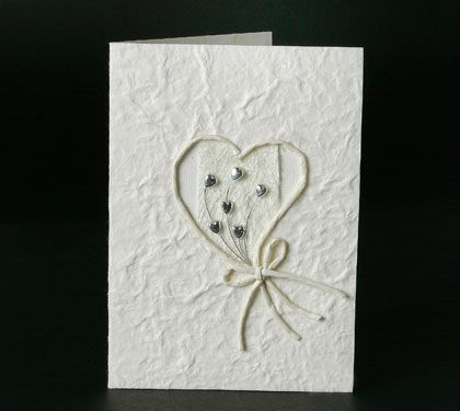 Handmade wedding invitations made from recycled card. www.kardella.com