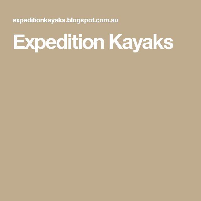 Expedition Kayaks