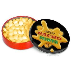 I don't know why I have such a love for things that taste like they shouldn't, but cheesy nacho mints!!
