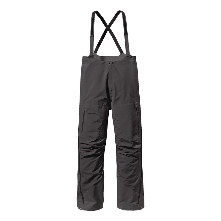 Patagonia Men's Super Alpine Bibs for Alpine Climbing | Forge Grey