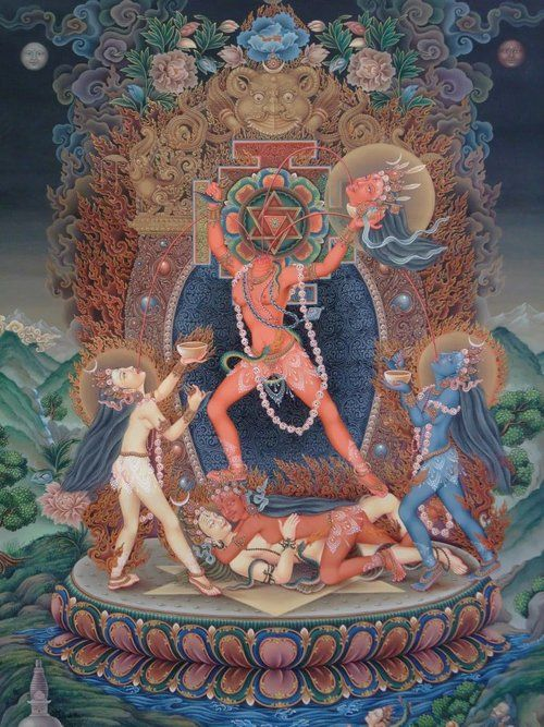 Chinnamasta, newari painting